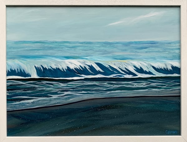"""Crystalline Sea"" Oil on Linen Canvas Original Oceanscape by Emily Gilman Beezley"