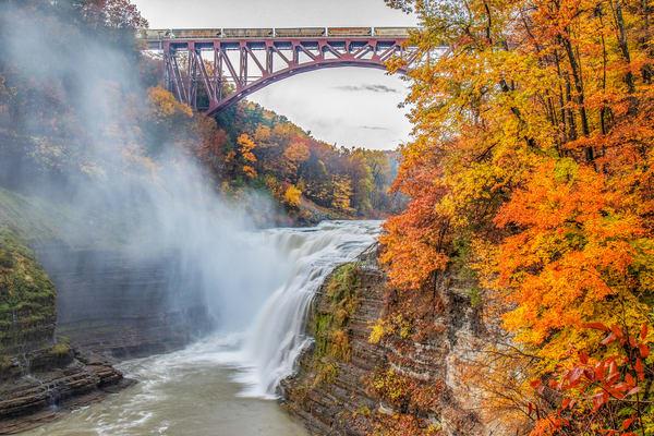Fall Falls And Train Photography Art | David Lawrence Reade