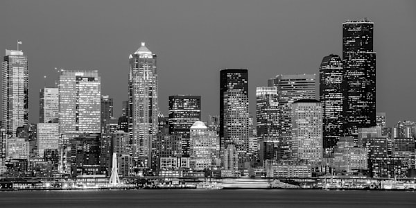 Evening Skyline, Seattle, Washington, 2015