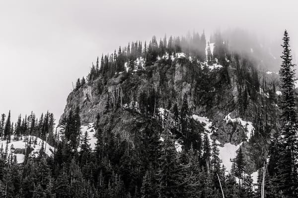 Foggy Crystal Peak, Mount Rainier National Park, Washington, 2016