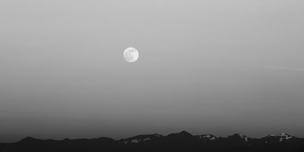 Full Moon Over the Washington Cascades, 2014