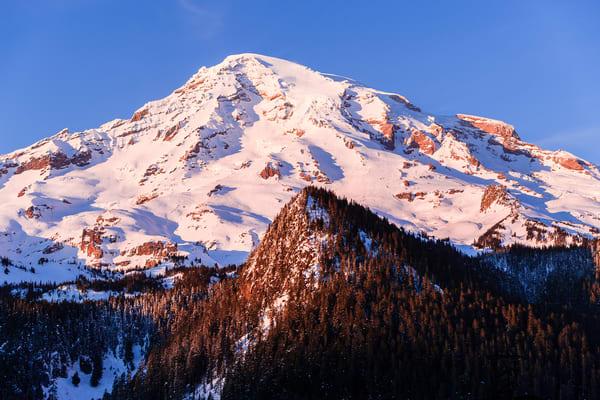 Alpenglow, Mount Rainier, Washington, 2017