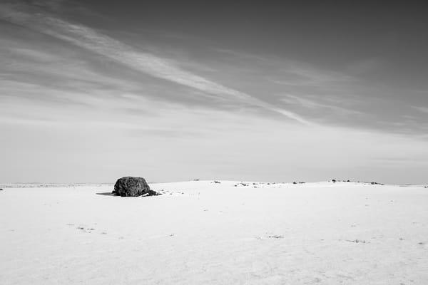 Lone Rock in the Snow, Douglas County, Washington, 2013