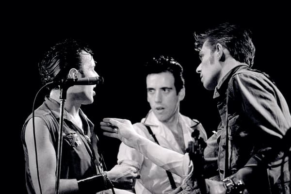 Joe Strummer, Paul Simonon & Mick Jones of The Clash at The Lyceum
