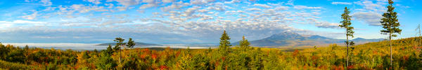 Katahdin From The Lookout, Kwwnm   Pano Photography Art | http://www.mooseprintsgallery.com