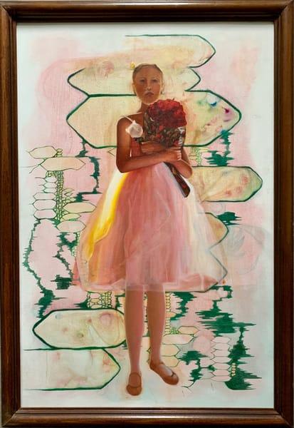 Rose White Luster Art | Emily Gilman Beezley LLC