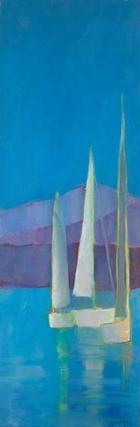 Gathering At The Fjord Ii Art | Laura Donovan Art