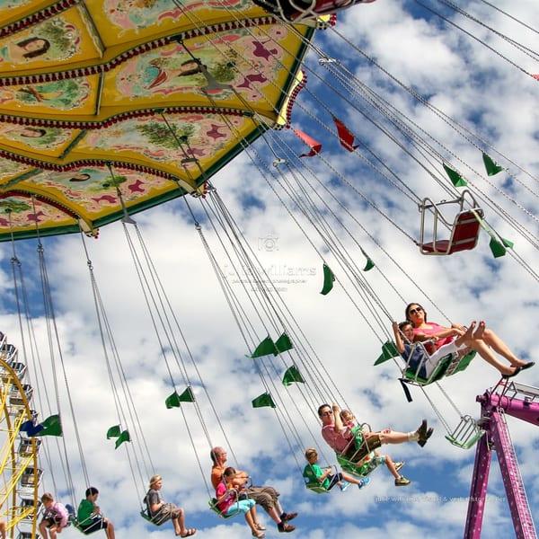 Riding The Swings, Markham Fair | Julie Williams Fine Art Photography