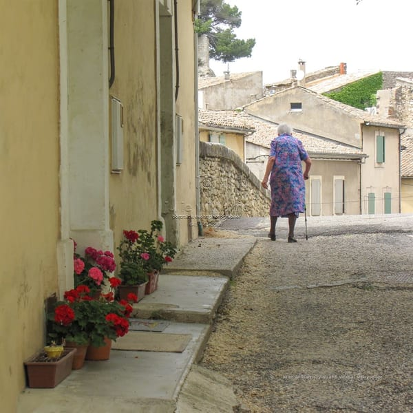 Old Woman In Quintessential Provence | Julie Williams Fine Art Photography