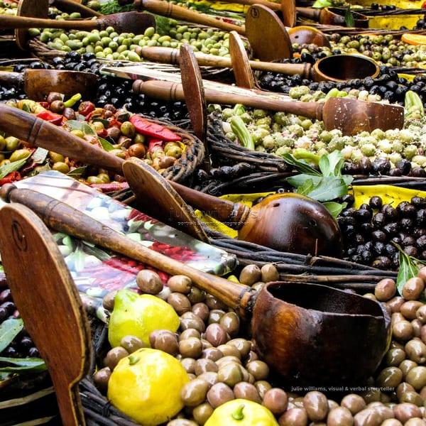 Olives At A Provence Market | Julie Williams Fine Art Photography