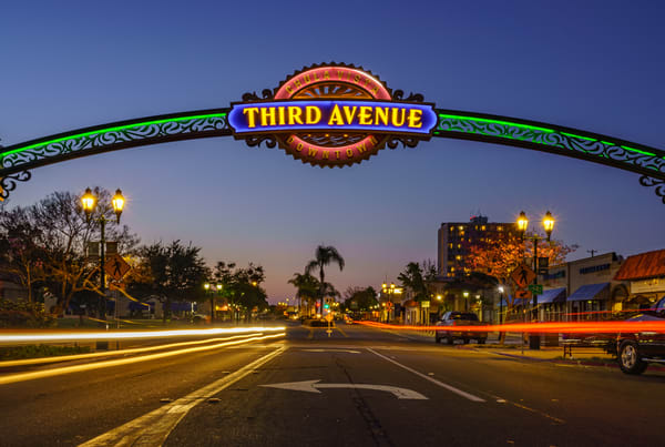Third Avenue in Chula Vista Wall Art Print by McClean Photography