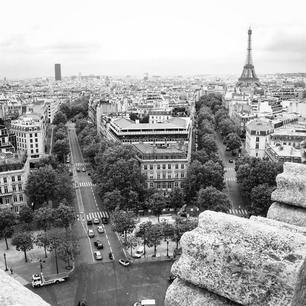 Eiffel Tower Seen From Arc De Triomphe | Julie Williams Fine Art Photography