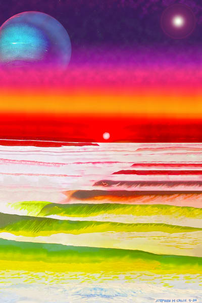 Return To Planet  X Art | CruzArtz Fine Arts