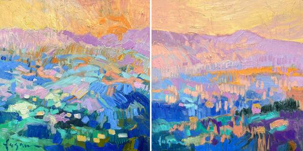 Edge Of Dreams Diptych | Dorothy Fagan Joy's Garden