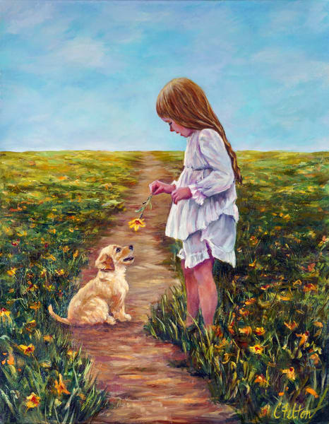 Puppy Love Art   Channe Felton Fine Art