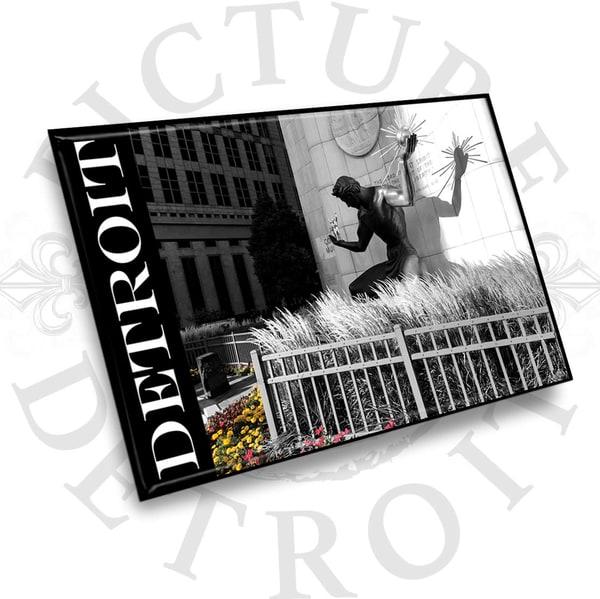 Spirit Of Detroit Color Splash Magnet | Picture Detroit