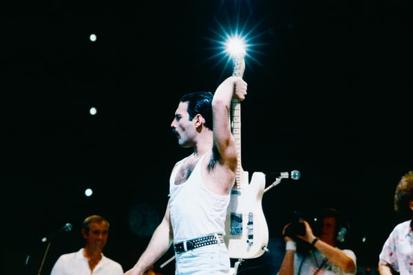 Freddie Mercury of Queen at Live Aid