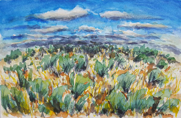 Gold & Sage Plains Art | Gena Destri