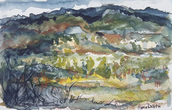 Prints, watercolor, mountains, colorado