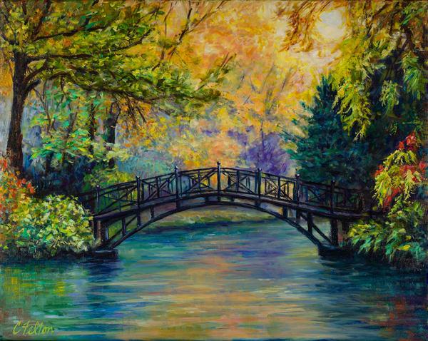 Serenity Bridge Art   Channe Felton Fine Art