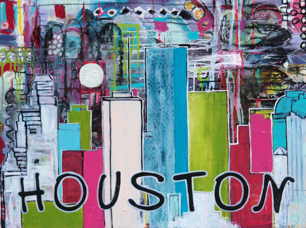 Houston Night Lights Art | Toria Hill Gallery
