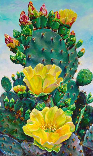 Cactus Queen Art   Channe Felton Fine Art