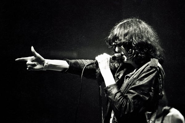 Joey Ramone of The Ramones at The Venue