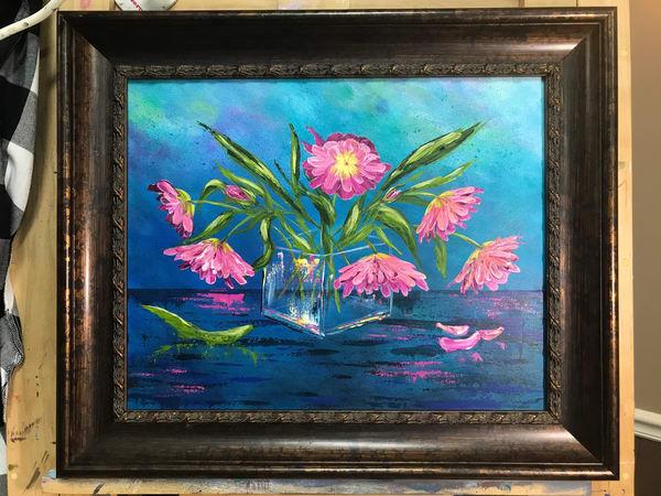 Pink Flowers Art | alanajudahart