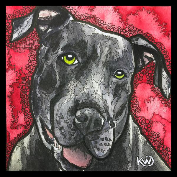 Pit Bull Art   Water+Ink Studios