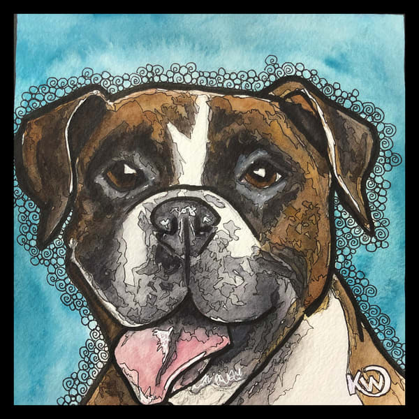 Boxer Art | Water+Ink Studios