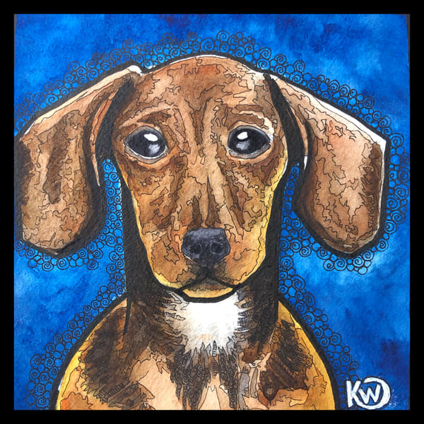 Daschund Art | Water+Ink Studios