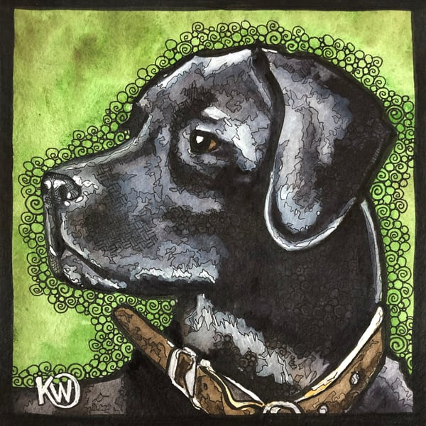 Black Lab Art | Water+Ink Studios