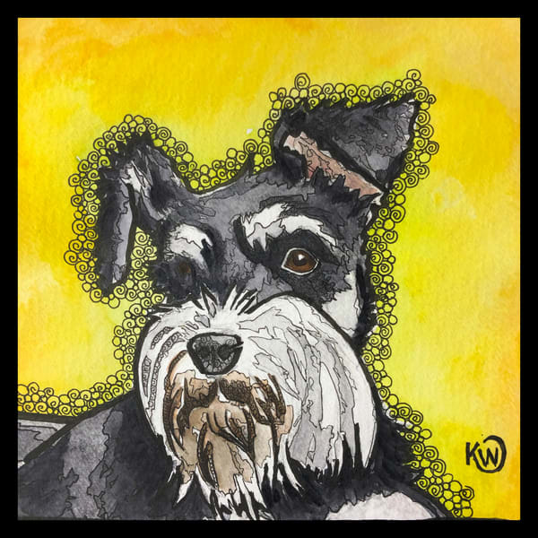 Schnauzer Art | Water+Ink Studios