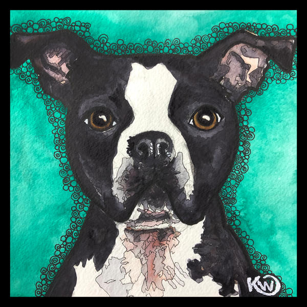 Boston Terrier Art | Water+Ink Studios