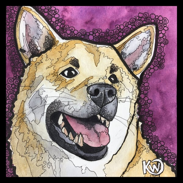 Shibu Inu Art | Water+Ink Studios