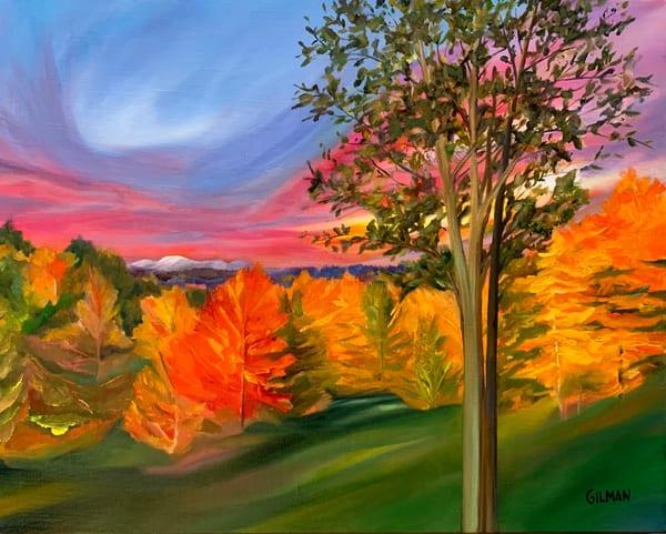 Mt. Sunapee   Autumn View Art | Emily Gilman Beezley