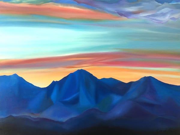 Mc Dowell Mountains   Sunset Art | Emily Gilman Beezley