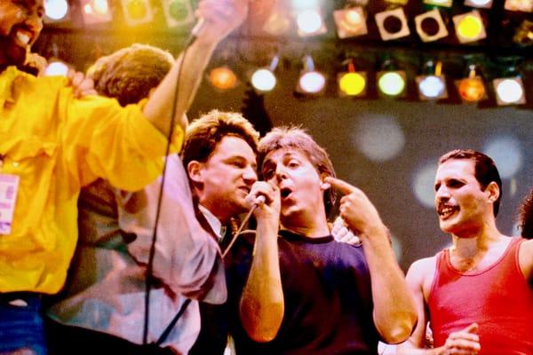 Live Aid Paul McCartney Bono Freddie Mercury