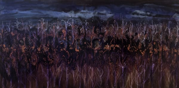 Dark Plum Corn Harvest Original Painting Art | Christy! Studios