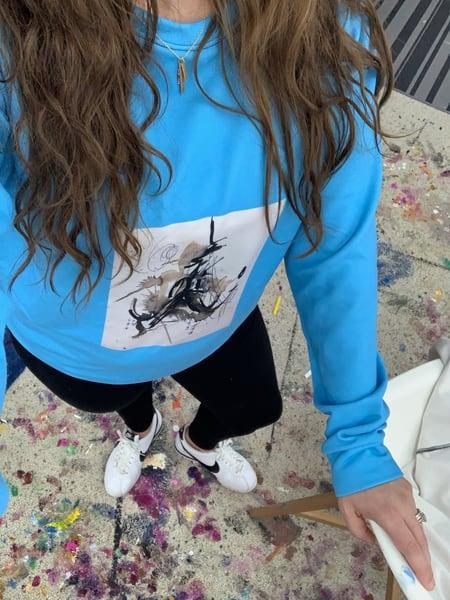 Blue Sketchbook Print Sweatshirt | ashalmonte