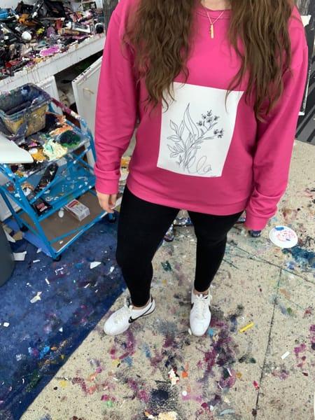 Pink Sketchbook Print Sweatshirt | ashalmonte