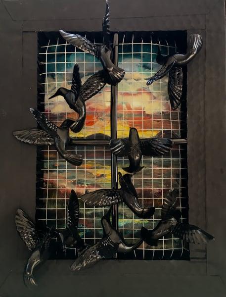 Caged Birds Art | Emily Gilman Beezley