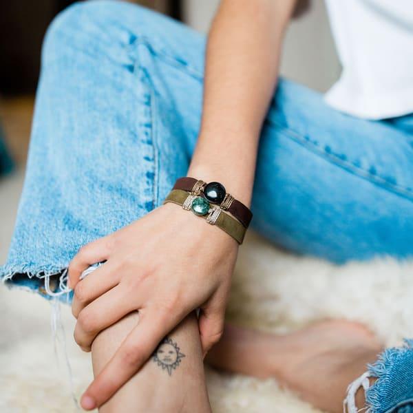 Life Jade Leather Bracelet | Ralwins
