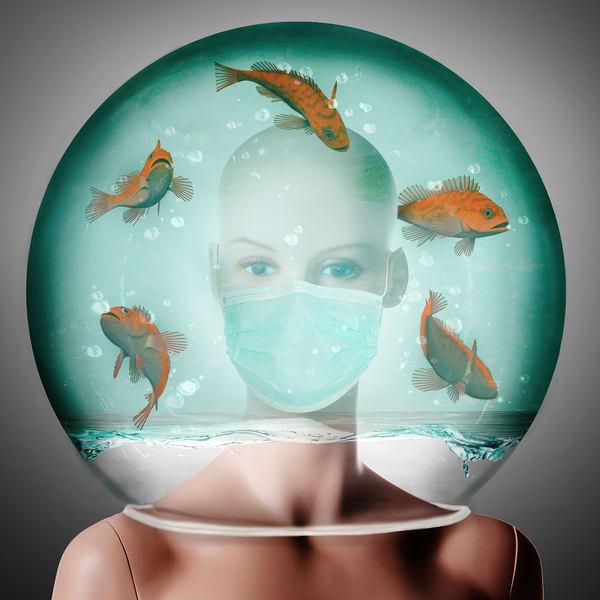 Life in a Fishbowl No. 1, Print, 2020, by artist Carolyn A. Beegan