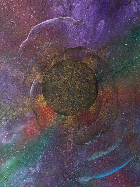 Event Horizon #19 - cosmic abstract painting by David Copson