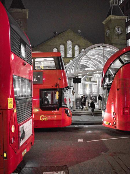 Liverpool Street Bus Trio Photography Art | Martin Geddes Photography