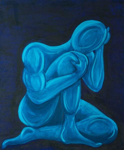 Thinking Or Worried? Art | Nisha Strain