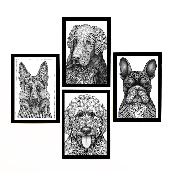 "Dog Collection | Kristin Moger ""Seriously Fun Art"""