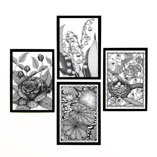 "Flower & Plant Collection | Kristin Moger ""Seriously Fun Art"""