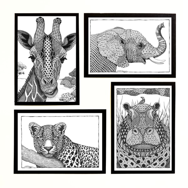 "Safari Collection | Kristin Moger ""Seriously Fun Art"""